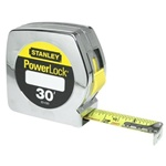 Stanley 33-430 Power Lock 30' Tape (Chrome Plate)