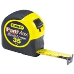 Stanley 33-735  Fat Max BladeArmor 35' Tape Measure ,11-Feet Standout. Made In USA